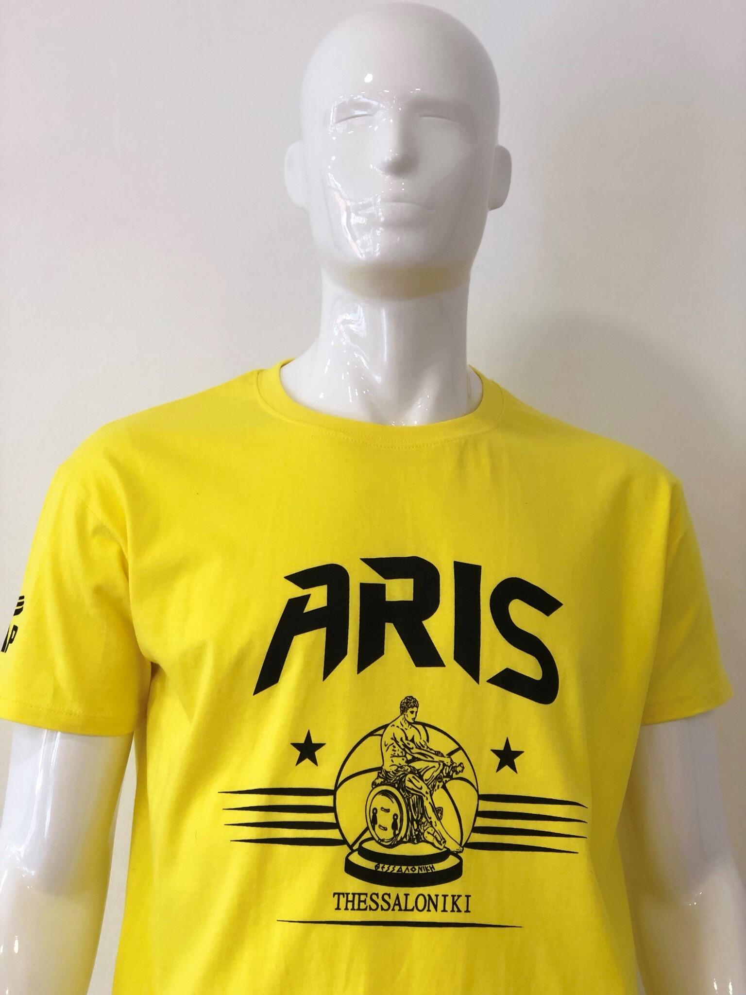 T-shirt ARIS THESSALONIKI YELLOW